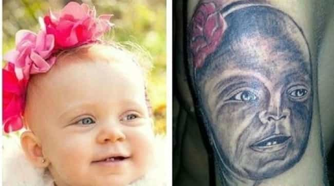 If Voldemort Had a Baby is listed (or ranked) 1 on the list The Absolute Worst Portrait Tattoos of All Time