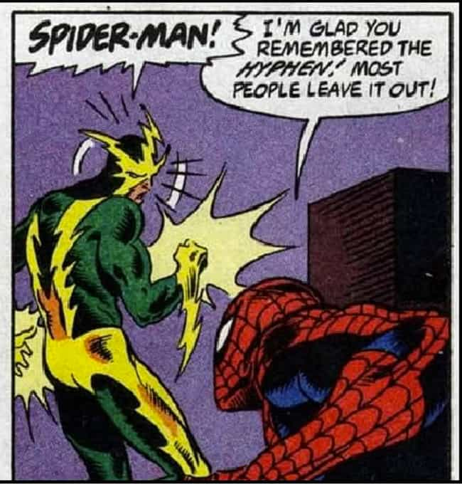 Fourth Wall, Broken is listed (or ranked) 4 on the list The Funniest Spider-Man Quips in Comics