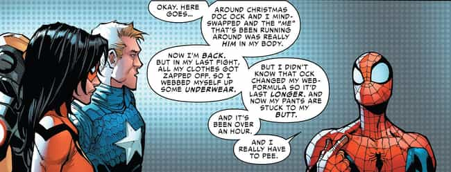 TMI is listed (or ranked) 4 on the list The Funniest Spider-Man Quips in Comics