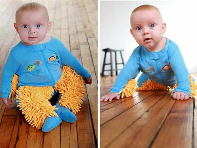 The Baby Mop, for Parents Who ... is listed (or ranked) 3 on the list The Most 'Murican Inventions Ever