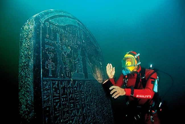 The Egyptian Stele That Led to is listed (or ranked) 7 on the list The Most Amazing Photos of Underwater Cities