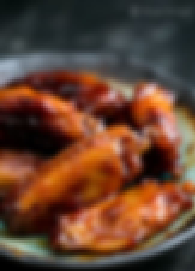 Bourbon Maple Glazed Chicken W... is listed (or ranked) 1 on the list Finger-Lickin' Chicken Wing Recipes