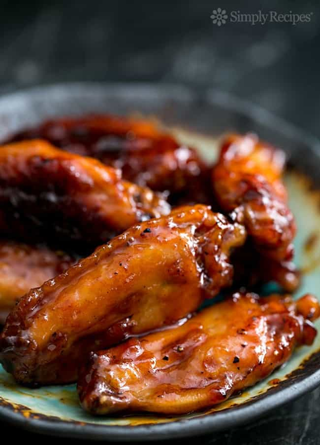 Bourbon Maple Glazed Chicken W... is listed (or ranked) 3 on the list Finger-Lickin' Chicken Wing Recipes