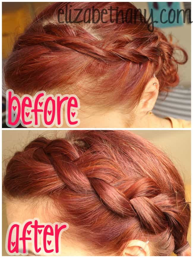 """""""Pancake"""" Your Braid t... is listed (or ranked) 4 on the list Hairstyling Hacks for the Perfect 'Do Every Day"""