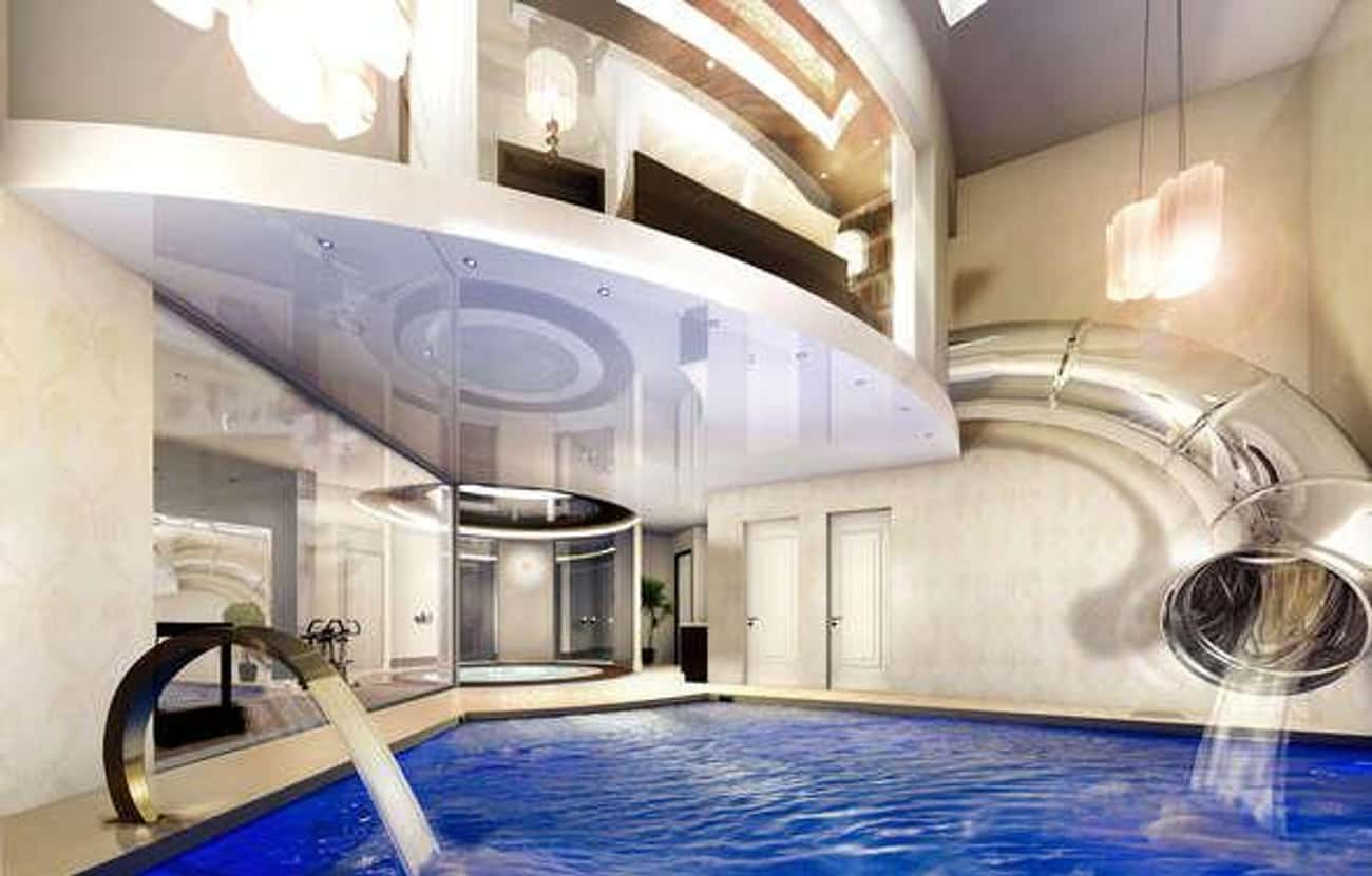 A Waterslide In Your Closet is listed (or ranked) 1 on the list The Coolest, Most Expensive Things Money Can Buy