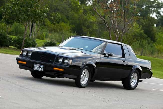1987 buick grand national is listed or ranked 1 on the list the fastest