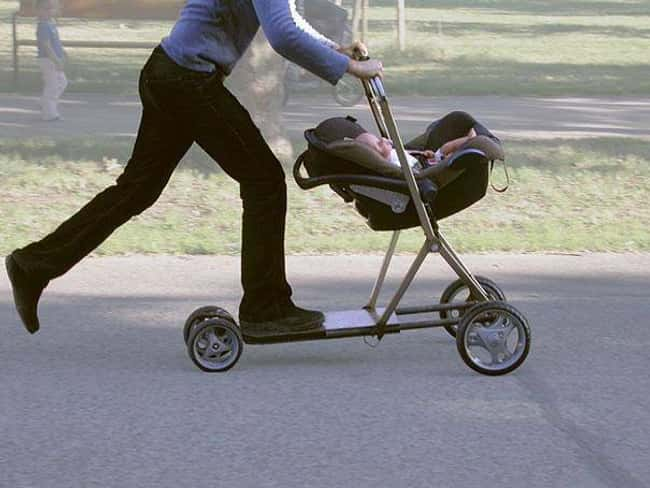 This Scooter Stroller for the  is listed (or ranked) 20 on the list Inventions You'll Wonder How You Lived Without