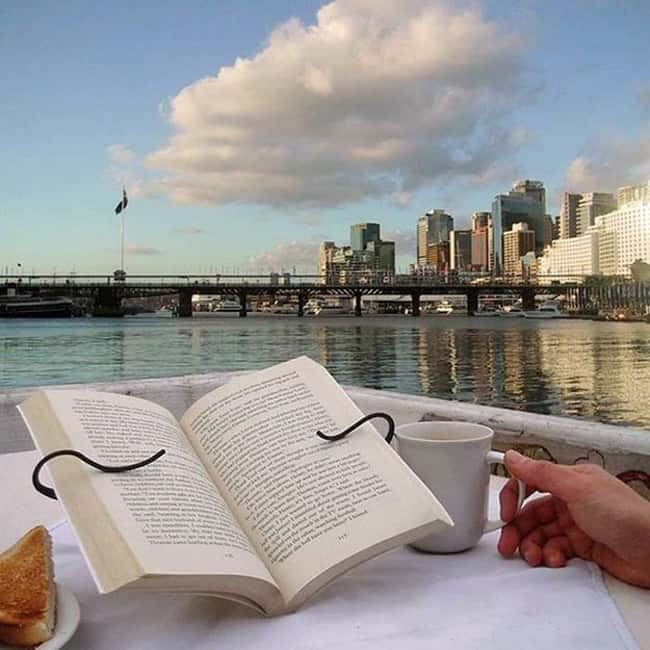 This Handsfree Book Holder for is listed (or ranked) 18 on the list Inventions You'll Wonder How You Lived Without
