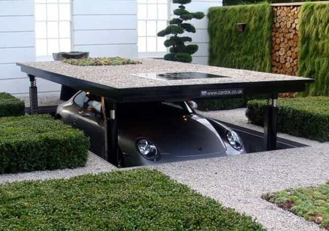 The Disappearing Driveway Gara... is listed (or ranked) 4 on the list Inventions You'll Wonder How You Lived Without