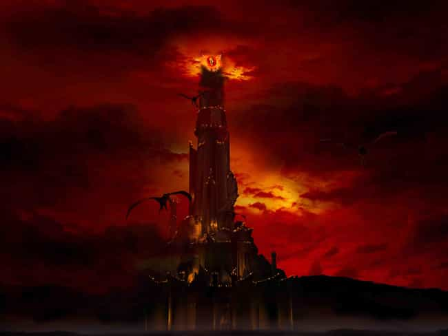 Barad-dûr is listed (or ranked) 3 on the list The Greatest Fictional Castles, Palaces & Fortresses