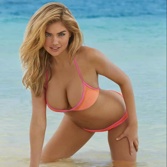 Leaning Over is listed (or ranked) 2 on the list The Hottest Kate Upton Breasts Pics