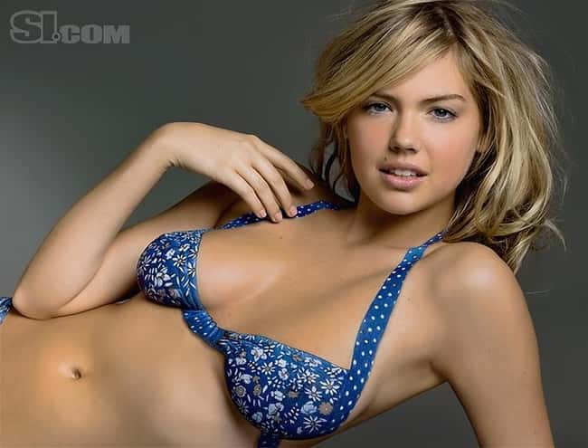 Kate Upton in blue bikini and is listed (or ranked) 24 on the list Hot Kate Upton Boobs Pics