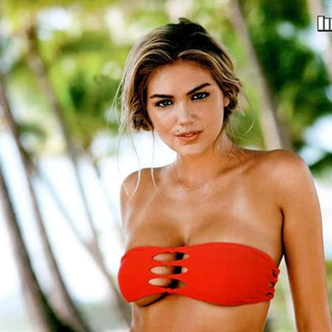 Kate Upton in red top in tropi is listed (or ranked) 19 on the list Hot Kate Upton Boobs Pics