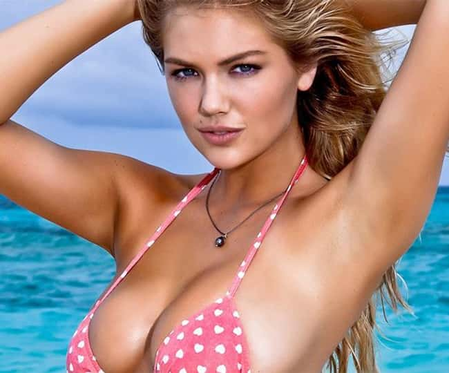 Kate Upton in pink polka dotte is listed (or ranked) 10 on the list Hot Kate Upton Boobs Pics