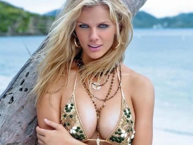 Brooklyn Decker posing at the is listed (or ranked) 13 on the list Hot Brooklyn Decker Boobs Pics