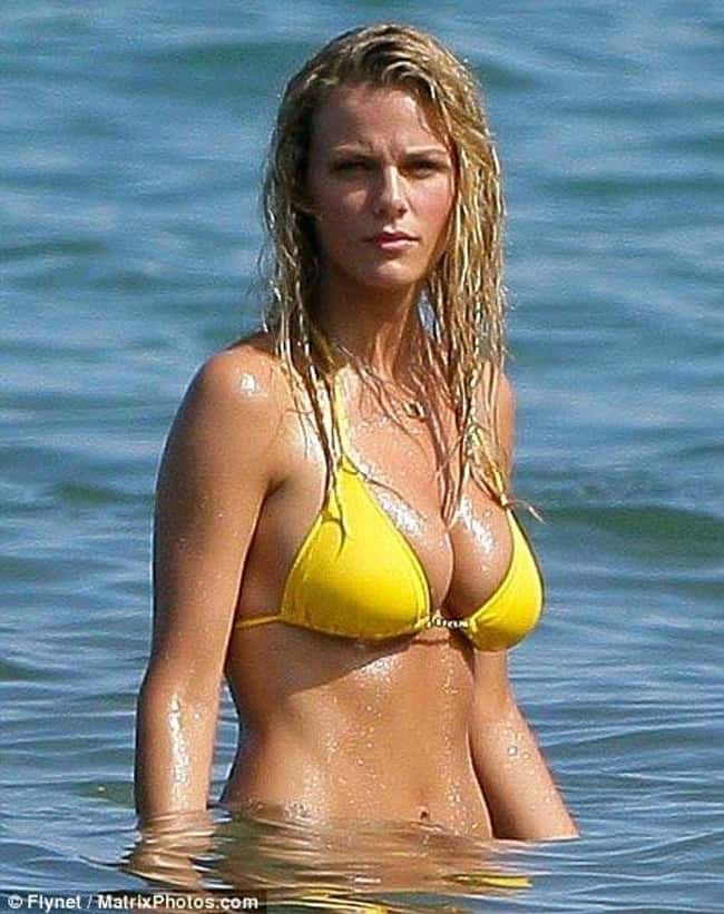 Brooklyn Decker in yellow biki is listed (or ranked) 19 on the list Hot Brooklyn Decker Boobs Pics
