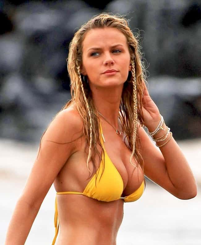 Brooklyn Decker in yellow biki is listed (or ranked) 17 on the list Hot Brooklyn Decker Boobs Pics
