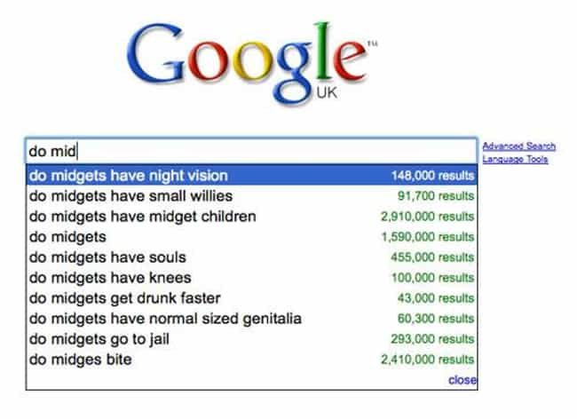 Asking the Tough Questions is listed (or ranked) 2 on the list 28 Times Google Definitely Judged You