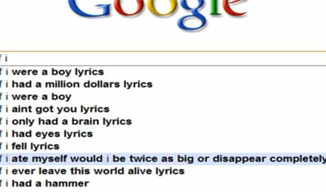 """""""If I Only Had a Brain""""... is listed (or ranked) 4 on the list 28 Times Google Definitely Judged You"""
