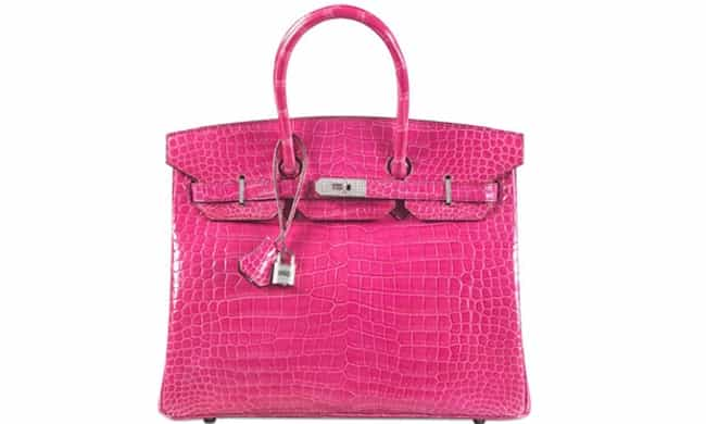Hermes: Fuchsia Diamond-... is listed (or ranked) 6 on the list The Most Expensive Handbags