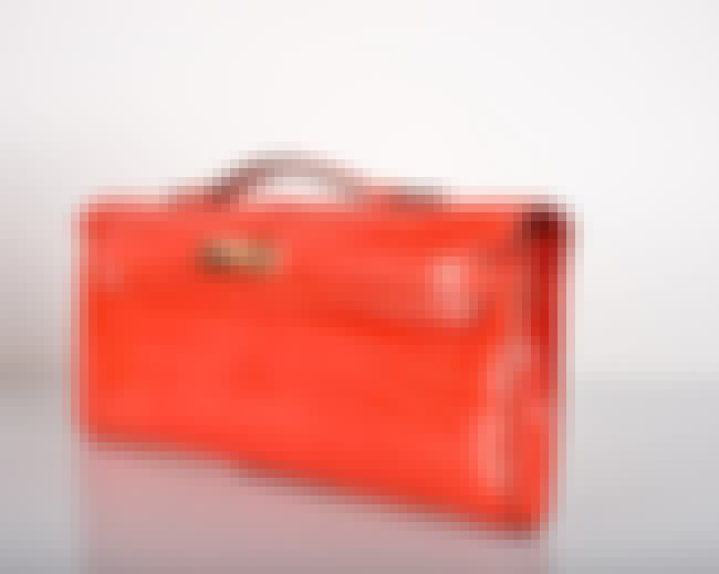 Hermes: Geranium Kelly Cut Clu... is listed (or ranked) 8 on the list The Most Expensive Handbags