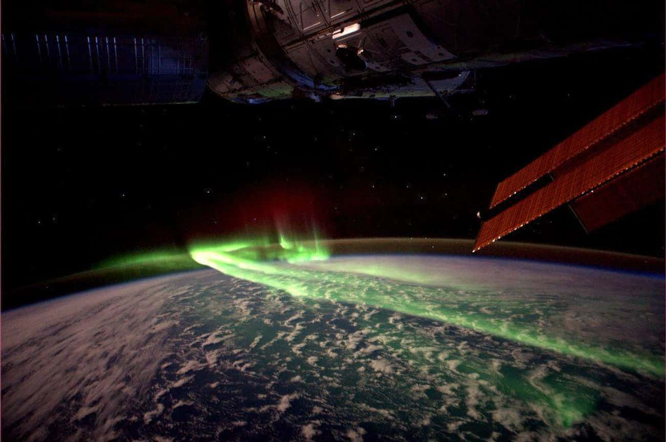 The Southern Lights Near Australia And Antarctica