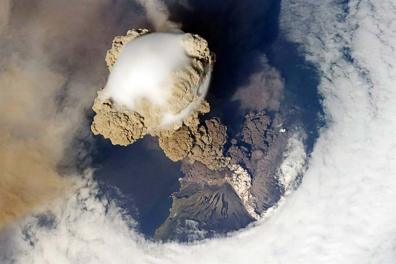 The Eruption of Sarychev Volca is listed (or ranked) 2 on the list The Most Breathtaking Pictures of Earth from Space