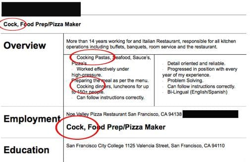 Just Pray to God You Haven't Dined at His Restaurant on Random Most Hilarious Resume Fails to Ever Happen