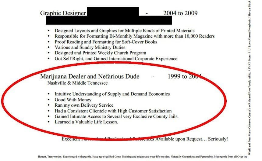 Image of Random Most Hilarious Resume Fails to Ever Happen