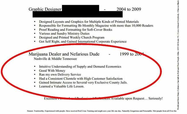 Honesty: Not Always the Best P... is listed (or ranked) 2 on the list The Most Hilarious Resume Fails to Ever Happen