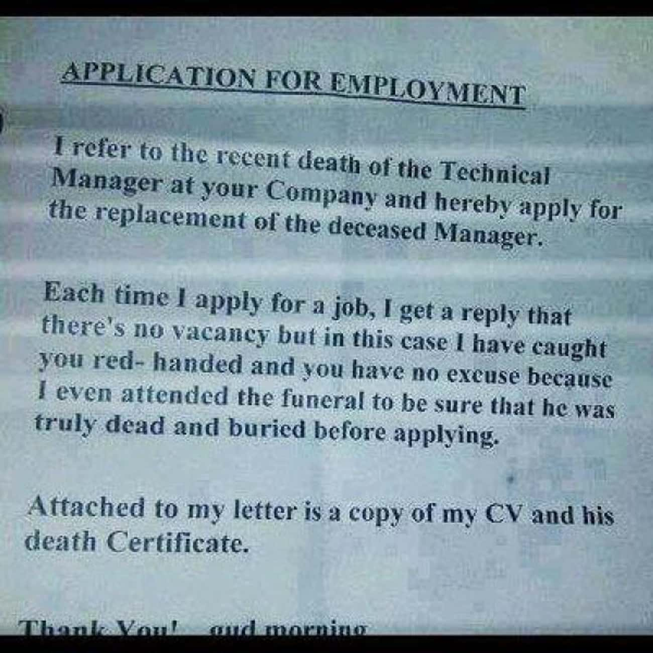 And the New Star Suspect Is... is listed (or ranked) 2 on the list The Most Hilarious Resume Fails to Ever Happen