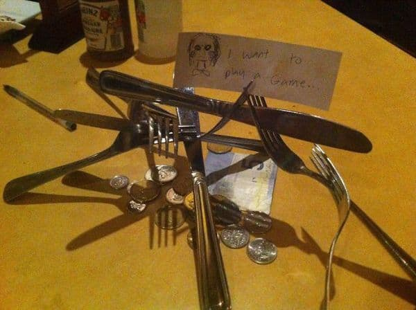The Murderous Psychopath Tip on Random Funniest and Most Creative Tips Ever Left