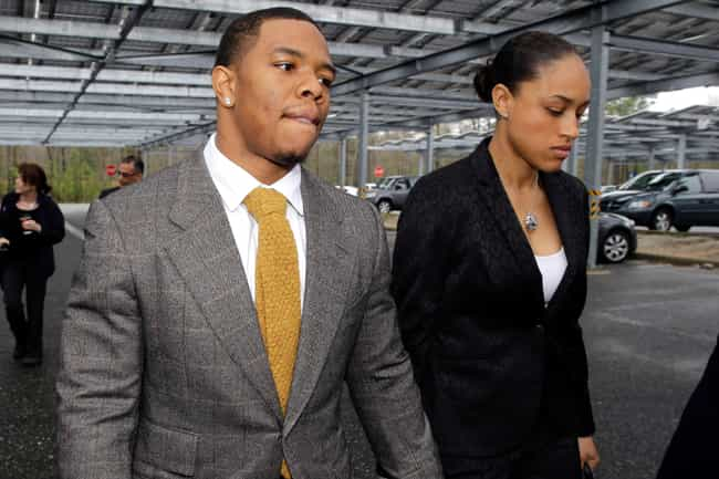 Ray Rice Knocks Out His Fiance... is listed (or ranked) 6 on the list 13 Celebrity Scandals Caught on Security Cameras