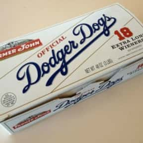 Dodger Dog is listed (or ranked) 13 on the list The Hottest Hot Dog Brands Ever