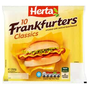 Herta Foods is listed (or ranked) 20 on the list The Hottest Hot Dog Brands Ever