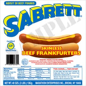Sabrett hot dogs is listed (or ranked) 7 on the list The Hottest Hot Dog Brands Ever