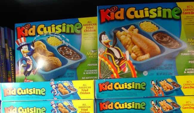 Kid Cuisine is listed (or ranked) 1 on the list The Most Disgusting Food All '90s Kids Ate