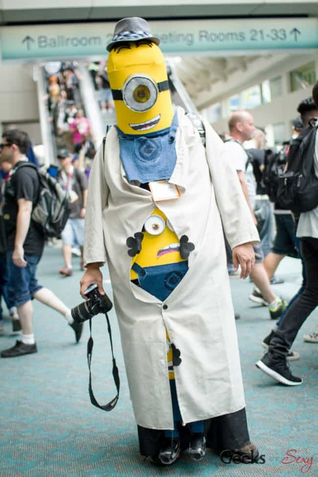 Minion/Cronenberg Body H... is listed (or ranked) 2 on the list The Most Clever Cosplay At SDCC 2015