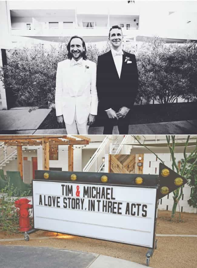 Tim + Michael: Love in the Des... is listed (or ranked) 4 on the list 20 Unique Same-Sex Weddings That'll Melt Your Heart