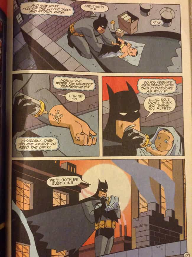 That Time He Rescued and Took ... is listed (or ranked) 3 on the list 20 Times Batman Was Just so Lovable