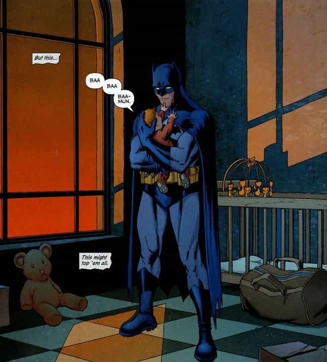 That Time He Was Just the Cute... is listed (or ranked) 3 on the list 20 Times Batman Was Just so Lovable