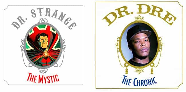Dr. Strange #1 is listed (or ranked) 4 on the list The Coolest Marvel Rap Album Variant Covers