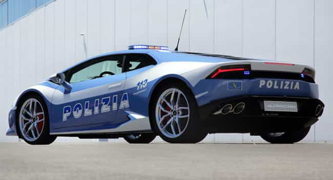 Italy: Lamborghini Huracan&#39... is listed (or ranked) 1 on the list Which Country Has the Coolest Police Cars?
