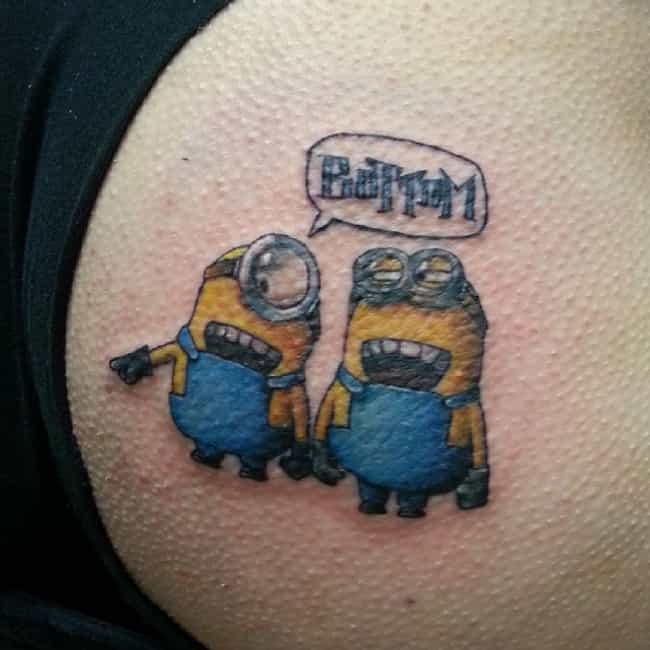 Oh, Just a Couple of Min... is listed (or ranked) 4 on the list 30 People Who Actually Got a Minion Tattoo