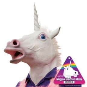 Magical Unicorn Mask is listed (or ranked) 15 on the list The Most WTF Things You Can Buy on Amazon