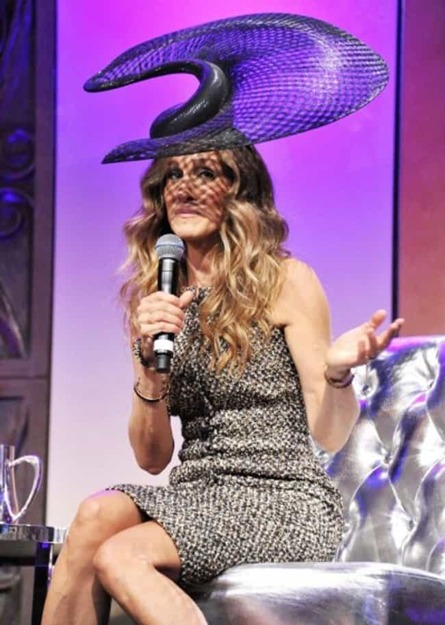 Sarah Jessica Parker and... is listed (or ranked) 3 on the list 25 Celebrities Wearing Questionable Hats