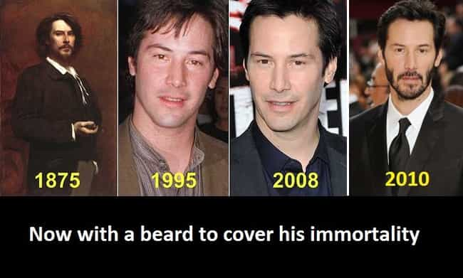 Keanu Reeves Is Immortal is listed (or ranked) 4 on the list Fake Viral Images That Probably Fooled You