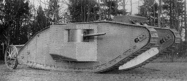 Mark I is listed (or ranked) 6 on the list The Greatest World War 1 Tanks