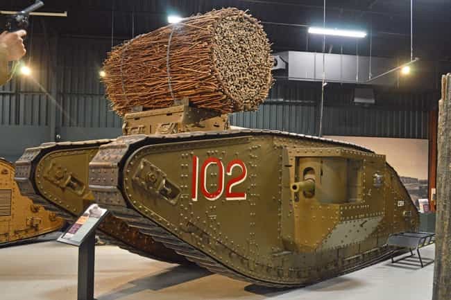Mark IV is listed (or ranked) 3 on the list The Greatest World War 1 Tanks
