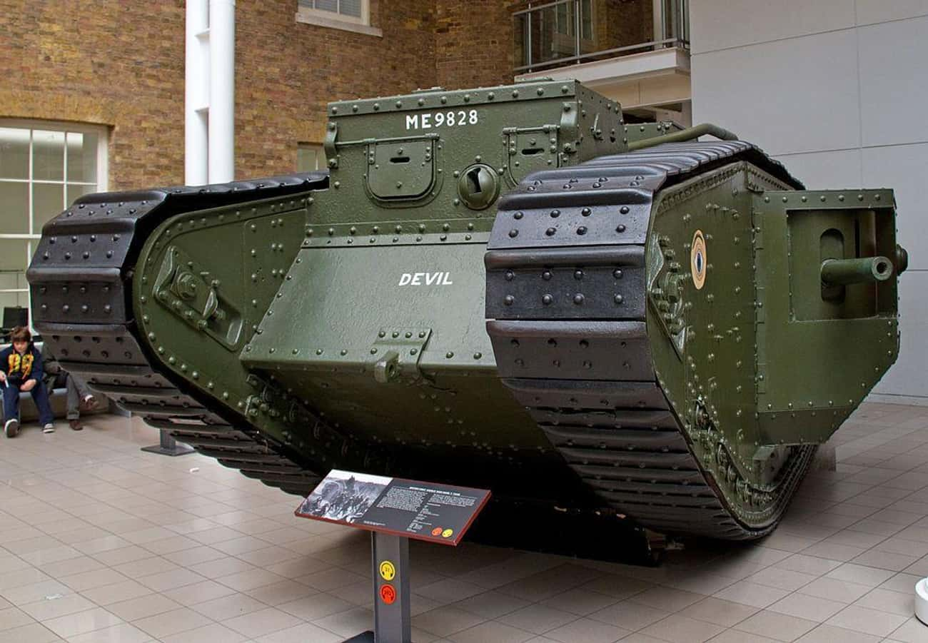 Mark V is listed (or ranked) 1 on the list The Greatest World War 1 Tanks